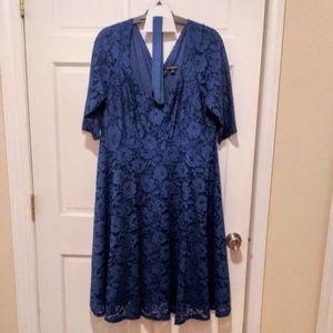 Dark Teal Lace Dress 20